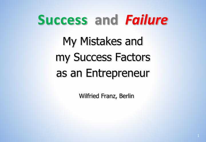 success and failure n.
