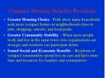 compact housing benefits residents