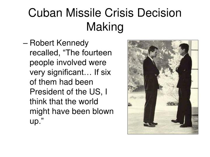 significance of cuban missile crisis Cold war: a brief history cuban missile crisis on october 14, 1962, a u-2 spy plane flying over cuba discovered nuclear missile sites under construction.