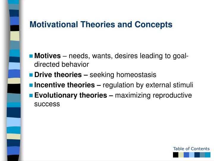 Motivational Theories and Concepts
