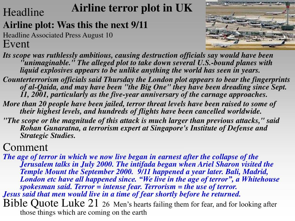 Airline terror plot in UK