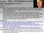 blair god will judge me on iraq