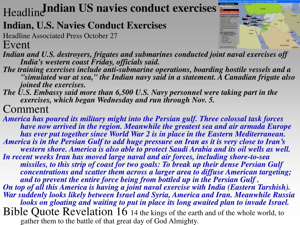 Indian US navies conduct exercises
