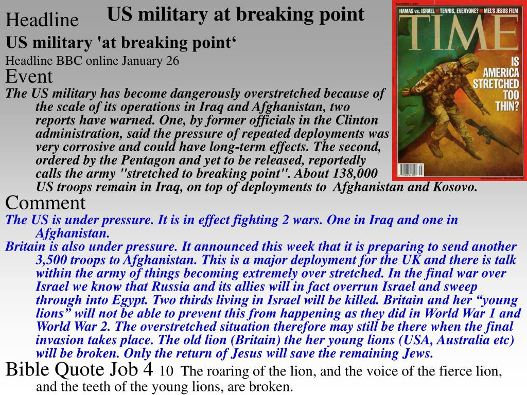 US military at breaking point