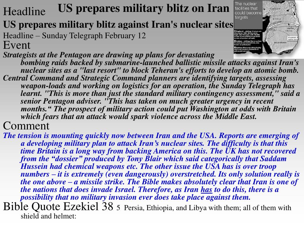 US prepares military blitz on Iran