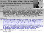 us prepares military blitz on iran