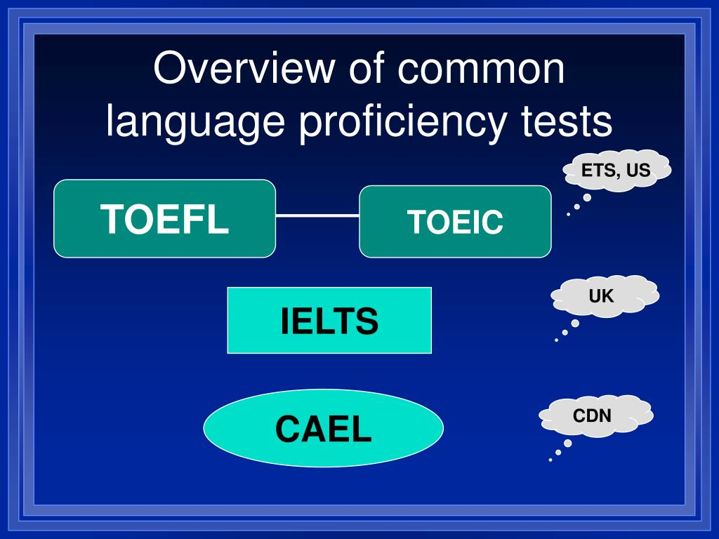 Overview of common language proficiency tests