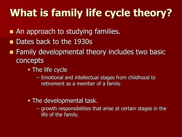 family developmental theory Family developmental theory may be used in these classes to families recognize and anticipate normative family life transitions the family life instructor can.