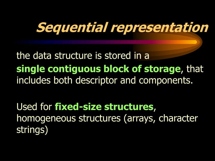 Sequential representation