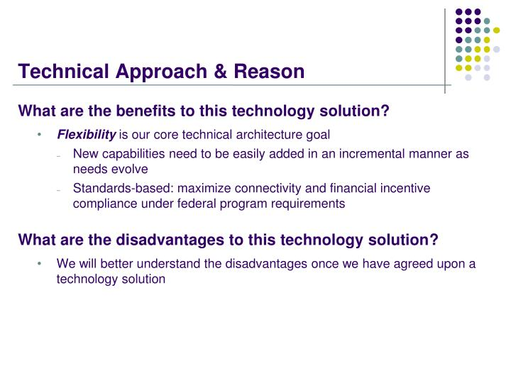 Technical Approach & Reason