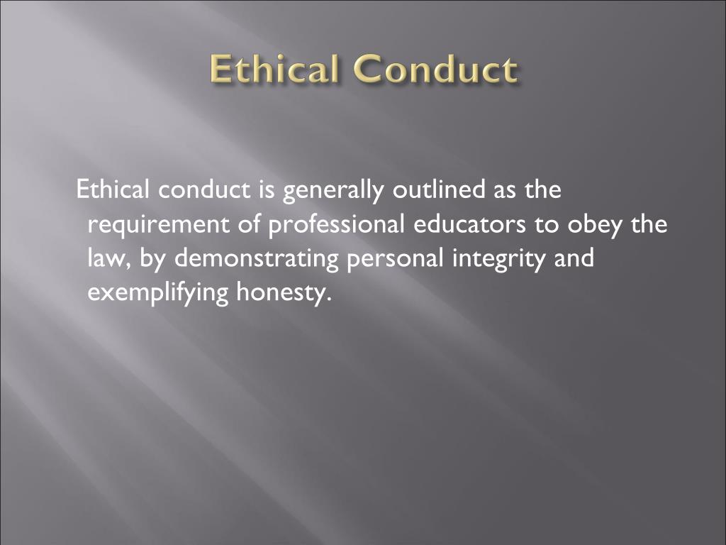 Ethical Conduct