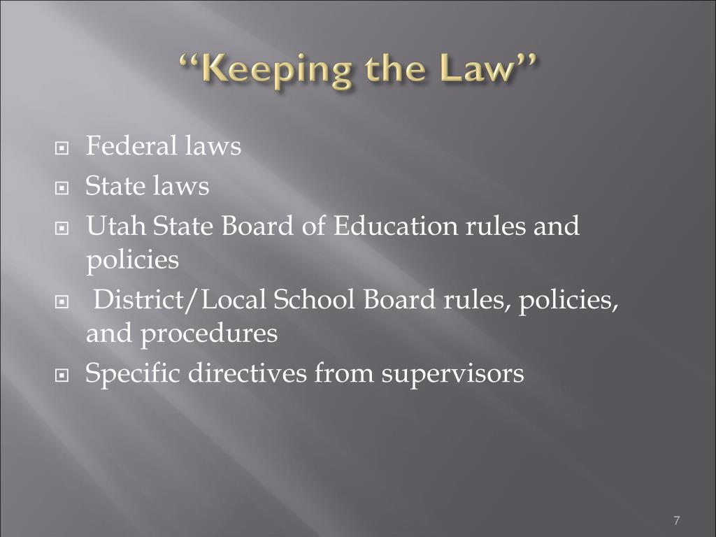 """""""Keeping the Law"""""""