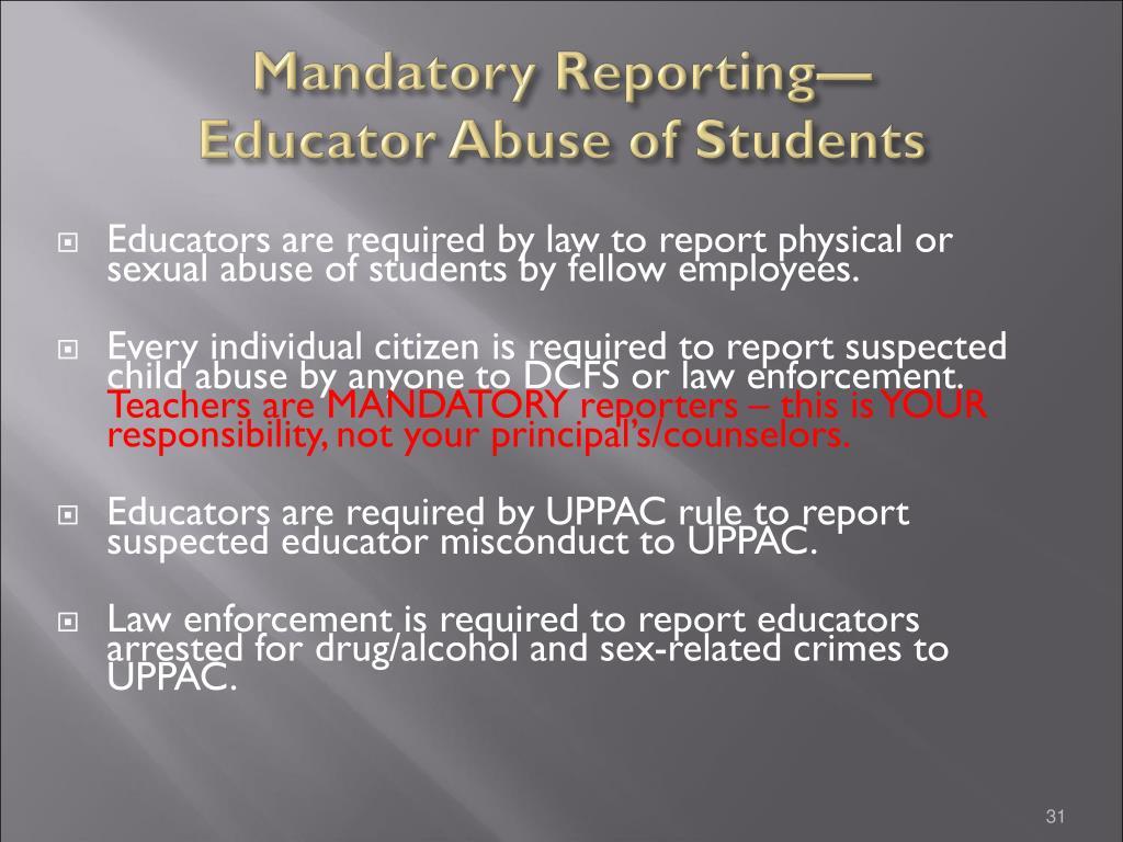 Mandatory Reporting—