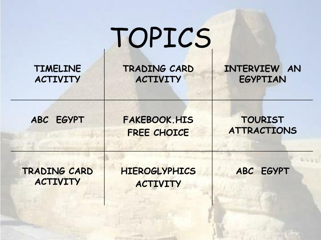 PPT - ANCIENT EGYPT TIC-TAC-TOE PowerPoint Presentation - ID