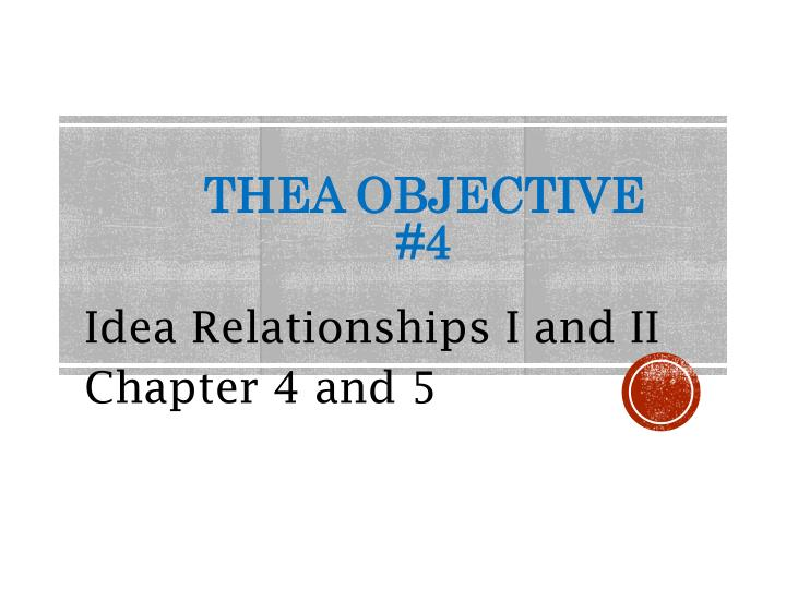 Thea objective 4