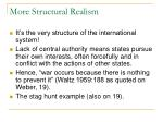 more structural realism