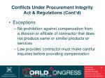 conflicts under procurement integrity act regulations cont d34