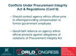 conflicts under procurement integrity act regulations cont d35