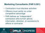 marketing consultants far 9 501