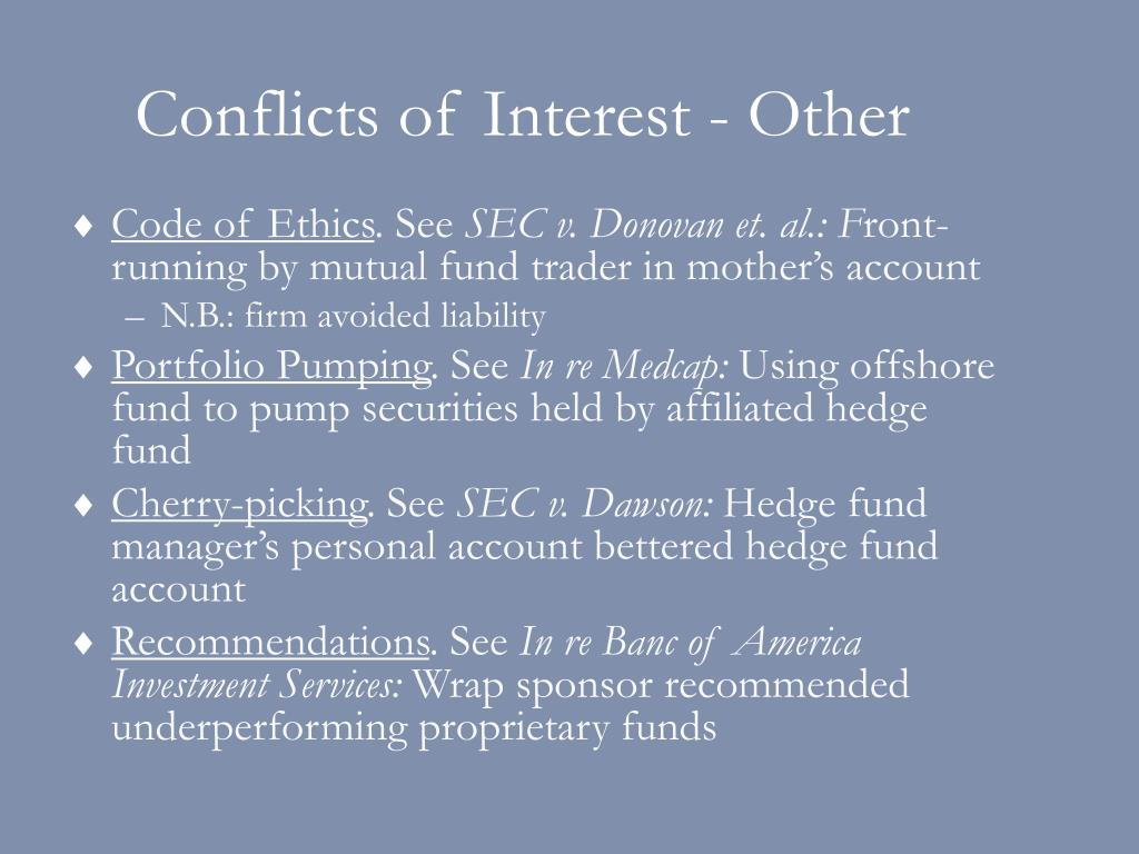 Conflicts of Interest - Other