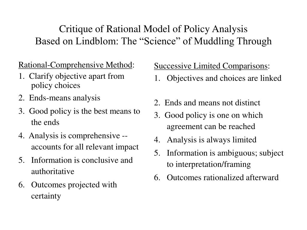 Rational-Comprehensive Method