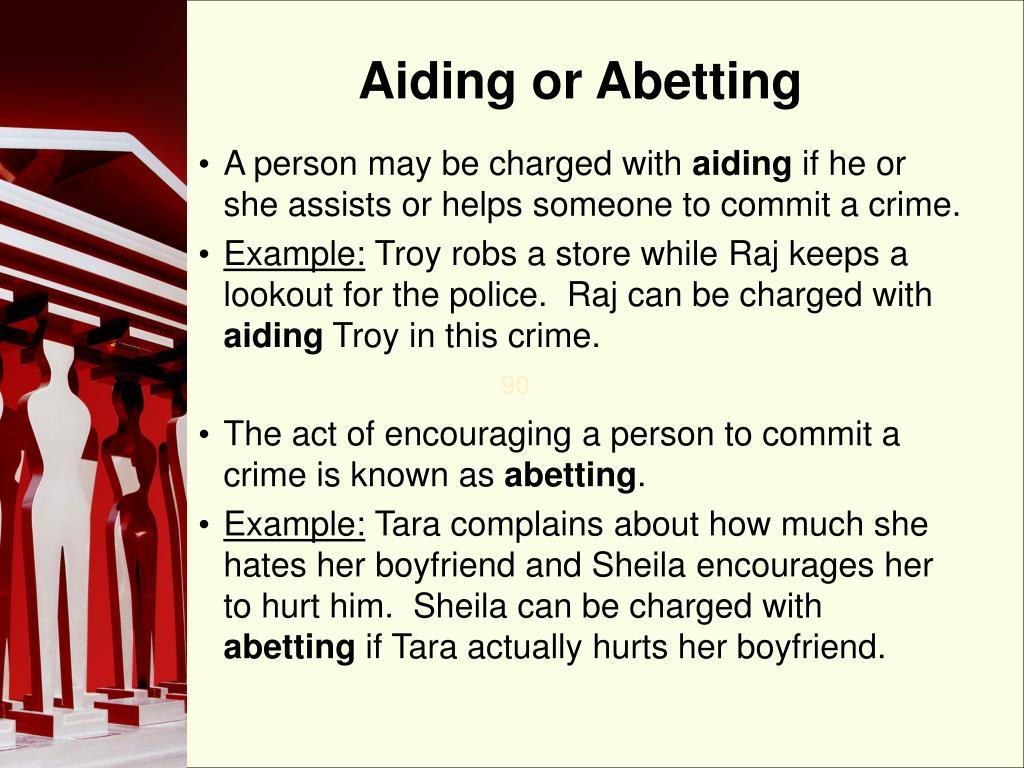 Aiding or Abetting