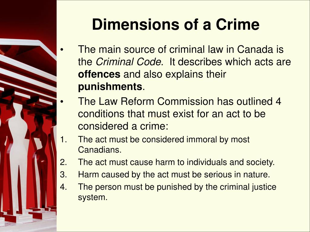 Dimensions of a Crime