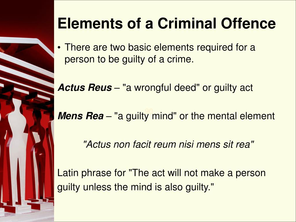 Elements of a Criminal Offence