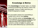 knowledge motive