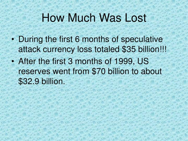 How Much Was Lost
