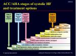 acc aha stages of systolic hf and treatment options