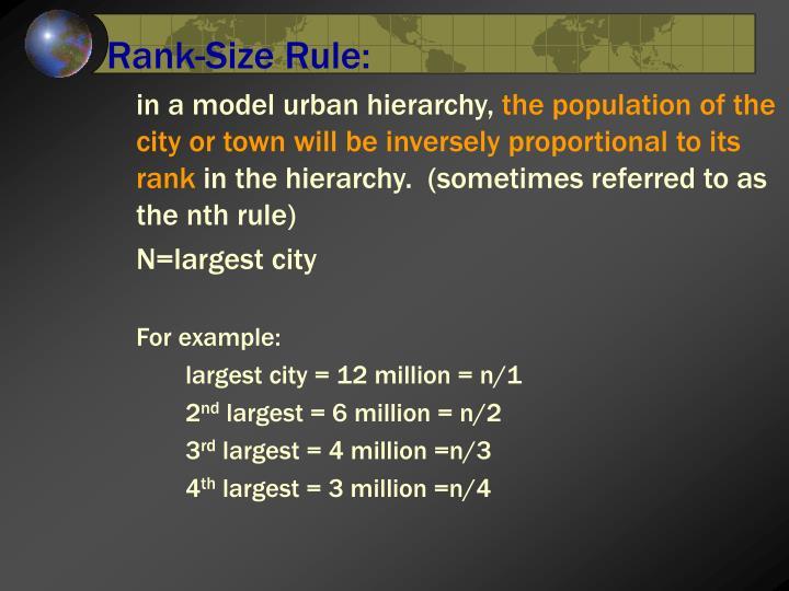Rank-Size Rule: