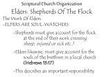 scriptural church organization elders shepherds of the flock15