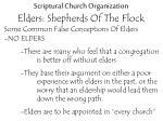 scriptural church organization elders shepherds of the flock17