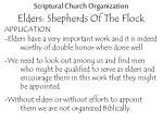 scriptural church organization elders shepherds of the flock22