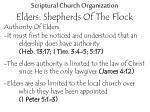 scriptural church organization elders shepherds of the flock9