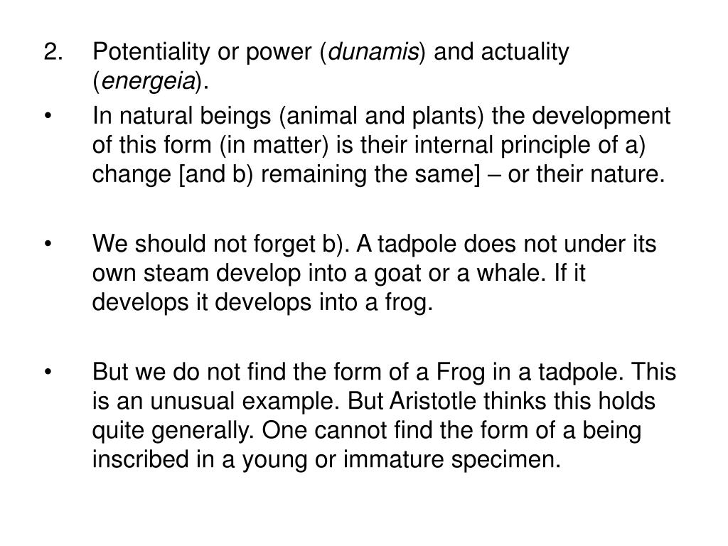 2.Potentiality or power (