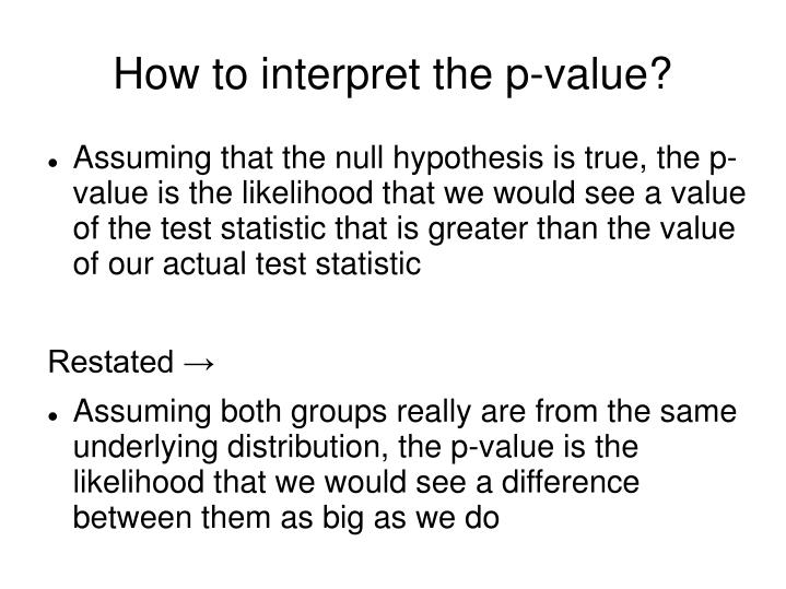 How to interpret the p-value?