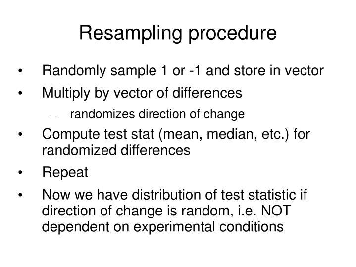 Resampling procedure