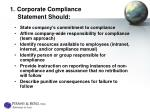1 corporate compliance statement should