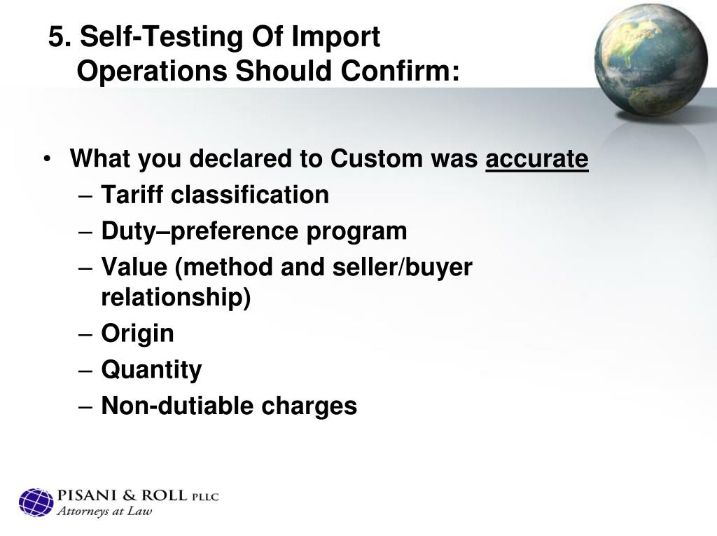 5. Self-Testing Of Import Operations Should Confirm: