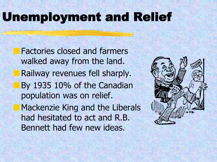 Unemployment and Relief