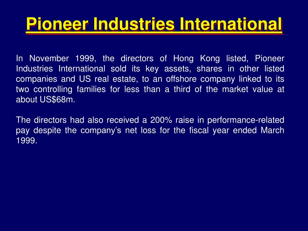 Pioneer Industries International