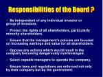 responsibilities of the board