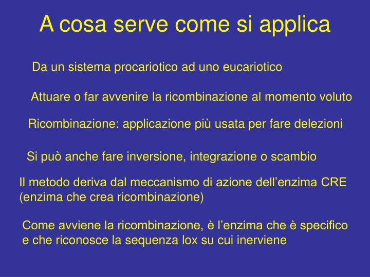 A cosa serve come si applica