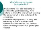 what s the cost of ignoring bad leadership