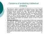concerns of protecting intellectual property