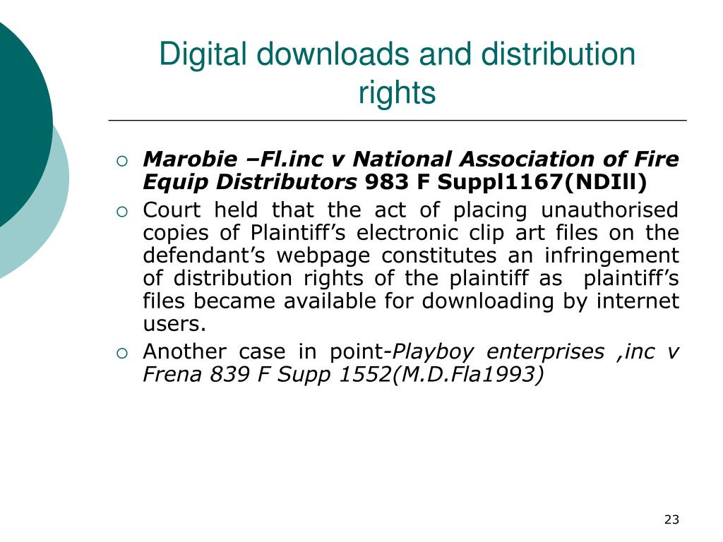 Digital downloads and distribution rights