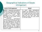 geographical indications of goods infringement