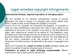 legal remedies copyright infringements59